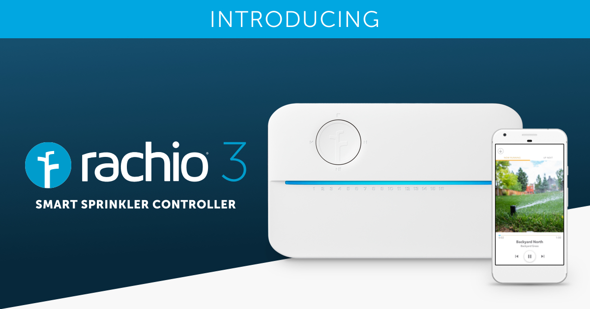 Rachio Smart WiFi Sprinkler Controller and Wireless Flow Meter